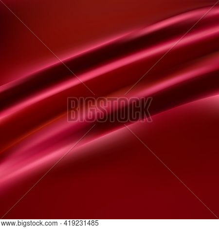 Abstract Background Luxury Red Fabric Or Liquid Wave Or Wavy Folds Grunge Silk Texture Satin Velvet