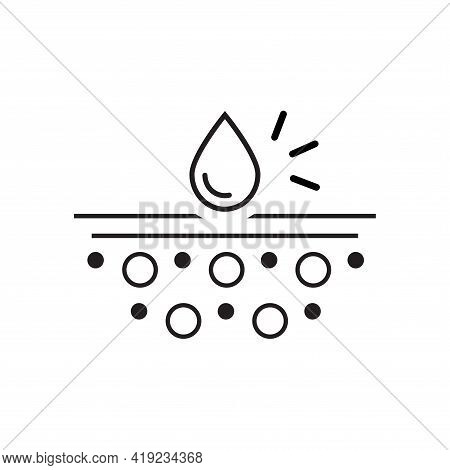 Absorption. Absorb Soft Layers And Drops Isolated On White. Sanitary Care Symbol. Moisture Absorbing