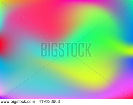 Holographic Background. Bright, Smooth Mesh With A Blurry Futuristic Pattern.