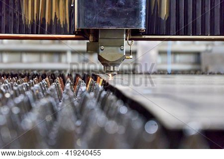 Precision Laser Cutting Of Steel Sheets On A Cnc Laser Machine