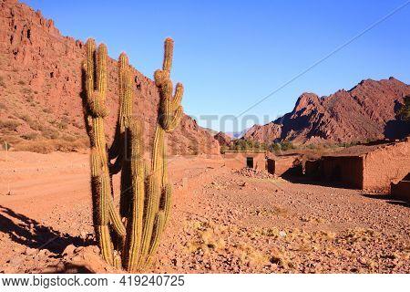 Little Town From Bolivia.quebrada De Palmira Area.bolivian Landscape