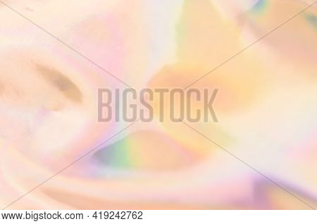 Blurry Abstract Iridescent Holographic Background For Your Design.