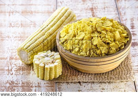 Flaked Corn Flour Or Biju Flour, It Is A Hydrated Flour, Crushed And Then Roasted. The Result Is Thi
