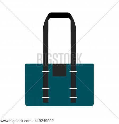 Colored Travel Bags Isolated On White Background. Vector Illustration