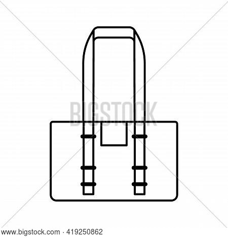 Black And White Travel Bags Isolated On White Background. Vector Illustration
