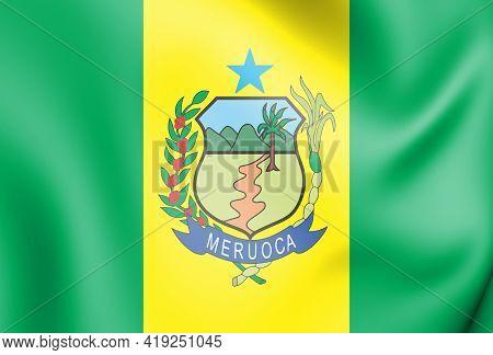 3d Flag Of Meruoca (ceara), Brazil. 3d Illustration.