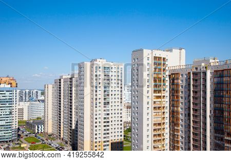 Residential District In Saint Petersburg, Primorsky District, Russia.