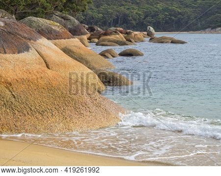 These Massive Granite Boulders At Refuge Cove Have Been Rounded By The Waves - Wilsons Promontory, V