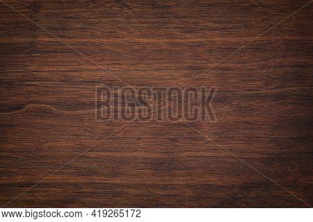 Dark Brown Wood Texture, Old Walnut Boards. Wood Panel Background. Wood Plank Texture