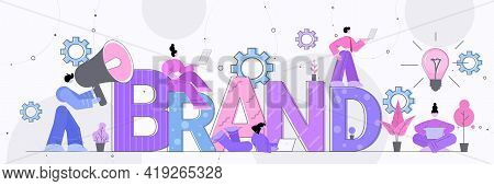 Businesspeople Employers Working On Branding Design Brand Concept