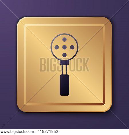 Purple Spatula Icon Isolated On Purple Background. Kitchen Spatula Icon. Bbq Spatula Sign. Barbecue