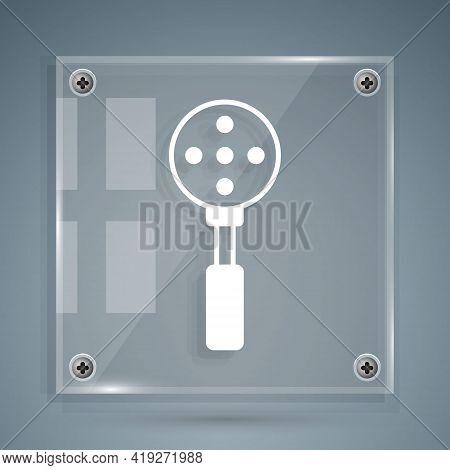 White Spatula Icon Isolated On Grey Background. Kitchen Spatula Icon. Bbq Spatula Sign. Barbecue And