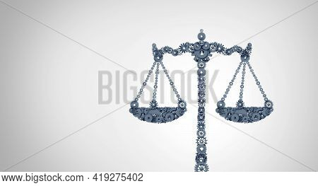 Business Law Concept And Corporate Legislation Or A Legal Works Concept With A Group Of Gears And Co