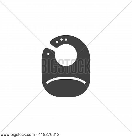 Baby Bib Vector Icon. Filled Flat Sign For Mobile Concept And Web Design. Baby Feeding Bib Glyph Ico