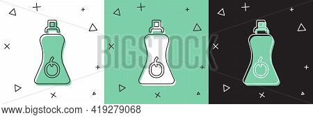 Set Sauce Bottle Icon Isolated On White And Green, Black Background. Ketchup, Mustard And Mayonnaise