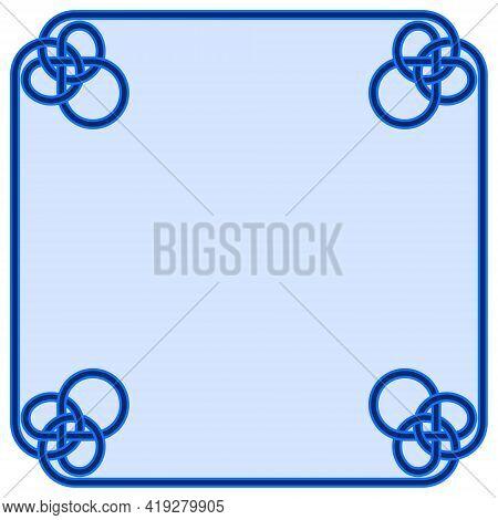 Interlaced Lines Frame Vector Design, Interlaced Frame For Text, Interlaced Shape For Photo Frame.