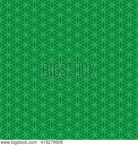 Flower Of Life Pattern Vector Design, Flower Of Life Geometric Pattern With Circle And Hexagon