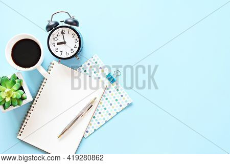 Still Life, Business, Office Supplies, Meeting, Planning, Work From Home Or Education Concept : Top