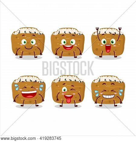 Cartoon Character Of Inarizushi With Smile Expression