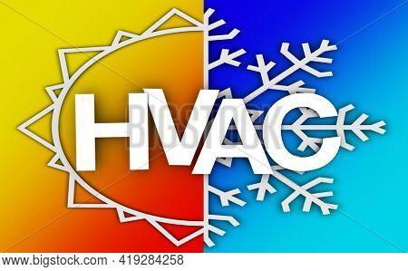 HVAC Heating Ventilation Air Conditioning AC Service Repair Business 3d Illustration
