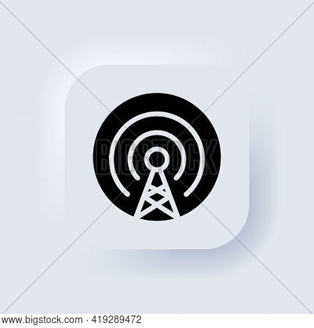 Cell Phone Tower Icon. Antenna Icon Vector. Wireless. Mobile Connection Line. Signal Sign. Broadcast