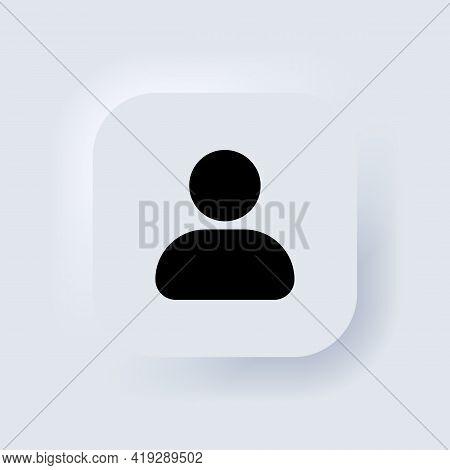 User Icon. Human Person Symbol. Social Profile Icon. Avatar Login Sign. Web User Symbol. Neumorphic