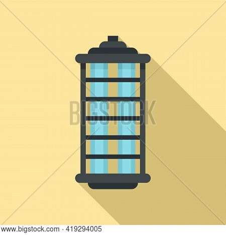 Insect Hunt Lamp Icon. Flat Illustration Of Insect Hunt Lamp Vector Icon For Web Design