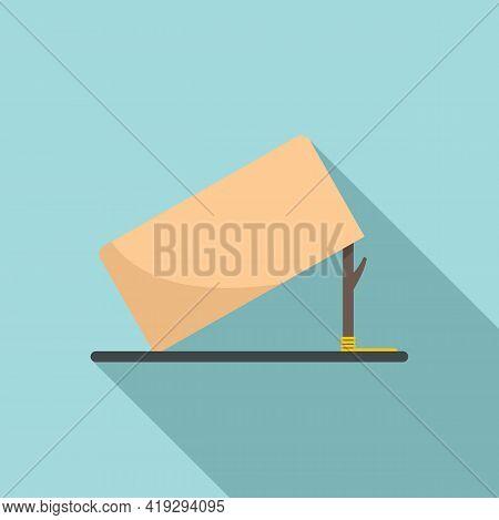 Carton Box Trap Icon. Flat Illustration Of Carton Box Trap Vector Icon For Web Design