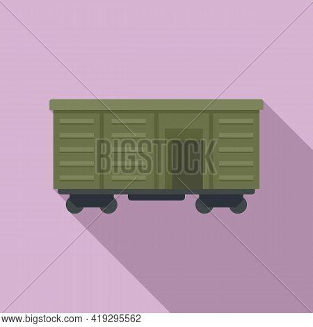 Illegal Immigrants Wagon Icon. Flat Illustration Of Illegal Immigrants Wagon Vector Icon For Web Des