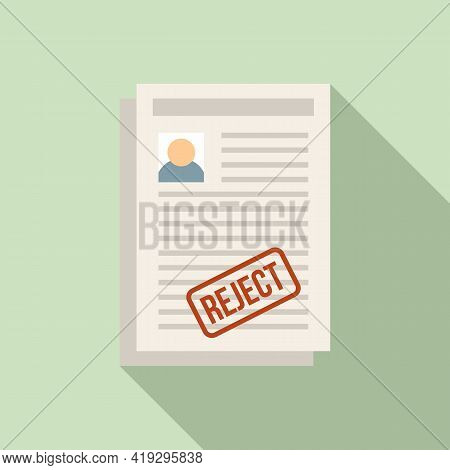 Illegal Immigrant Papers Icon. Flat Illustration Of Illegal Immigrant Papers Vector Icon For Web Des