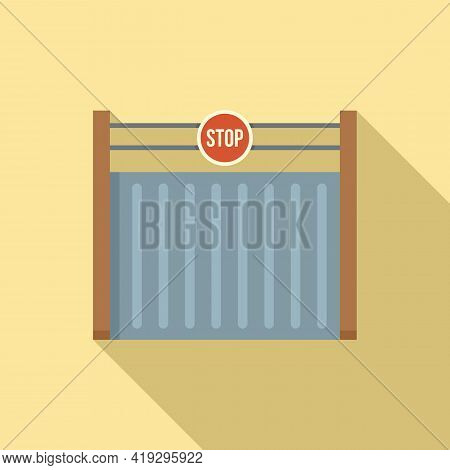 Border Gate Icon. Flat Illustration Of Border Gate Vector Icon For Web Design