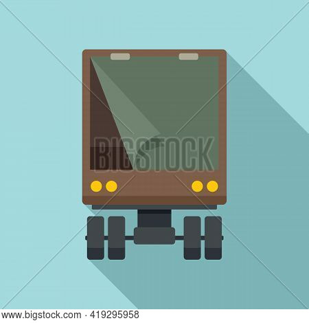 Illegal Immigrants Truck Icon. Flat Illustration Of Illegal Immigrants Truck Vector Icon For Web Des