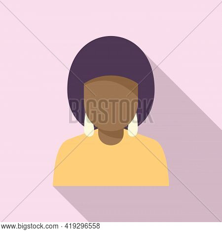 African Woman Immigrant Icon. Flat Illustration Of African Woman Immigrant Vector Icon For Web Desig