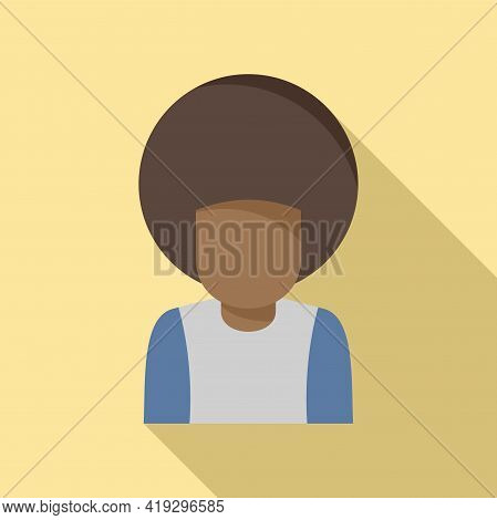 Afro American Immigrant Icon. Flat Illustration Of Afro American Immigrant Vector Icon For Web Desig