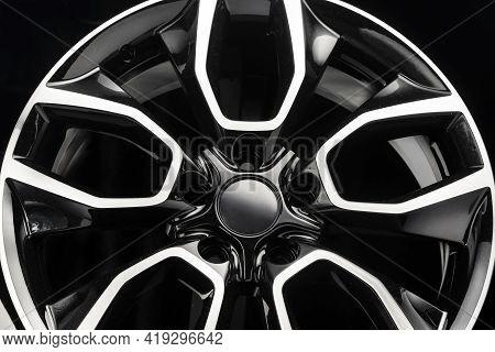 Alloy Wheel Close Up Unusual Auto Tuning Modern