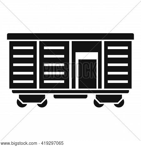 Illegal Immigrants Wagon Icon. Simple Illustration Of Illegal Immigrants Wagon Vector Icon For Web D