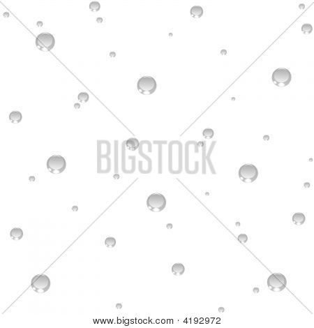 Seamless Air Bubbles White Background.