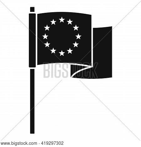 European Union Flag Icon. Simple Illustration Of European Union Flag Vector Icon For Web Design Isol