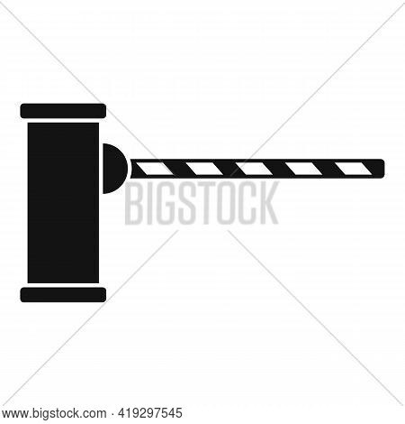 Border Barrier Icon. Simple Illustration Of Border Barrier Vector Icon For Web Design Isolated On Wh