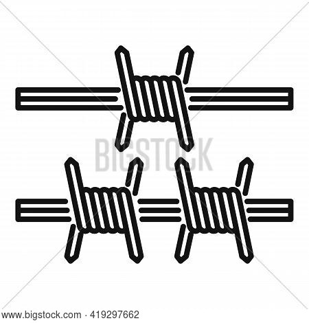 Border Wired Icon. Outline Border Wired Vector Icon For Web Design Isolated On White Background