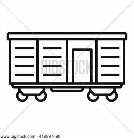 Illegal Immigrants Wagon Icon. Outline Illegal Immigrants Wagon Vector Icon For Web Design Isolated