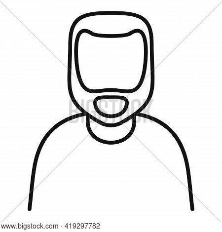 Illegal Immigrant Icon. Outline Illegal Immigrant Vector Icon For Web Design Isolated On White Backg
