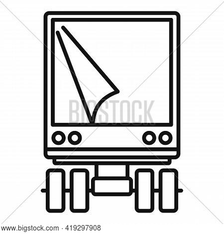 Illegal Immigrants Truck Icon. Outline Illegal Immigrants Truck Vector Icon For Web Design Isolated