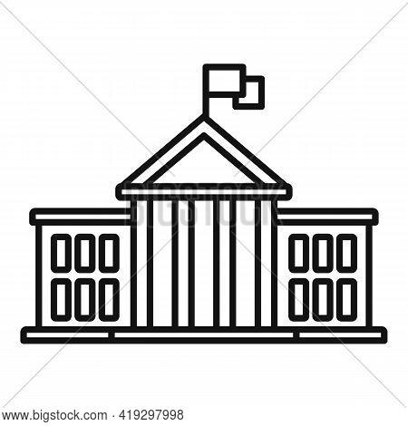 European Union Parliament Icon. Outline European Union Parliament Vector Icon For Web Design Isolate
