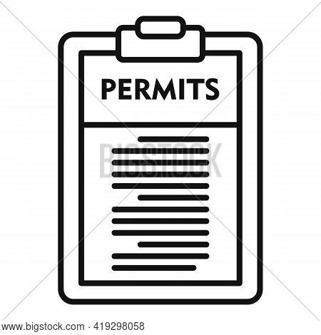 Illegal Immigrants Permits Icon. Outline Illegal Immigrants Permits Vector Icon For Web Design Isola