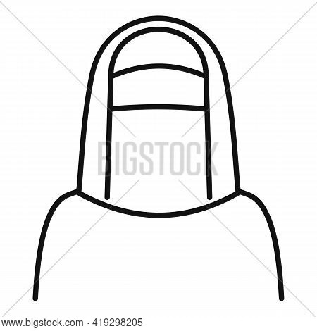Immigrant Muslim Woman Icon. Outline Immigrant Muslim Woman Vector Icon For Web Design Isolated On W