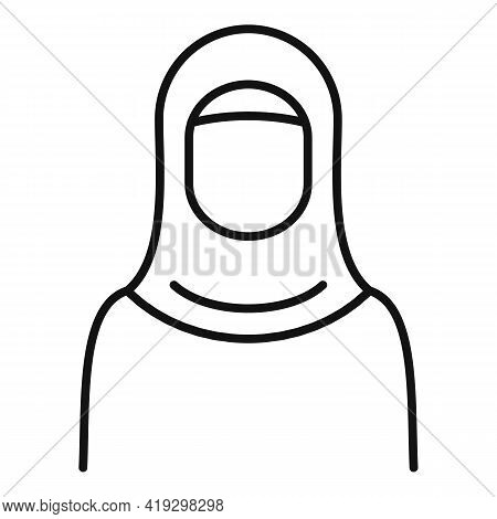 Woman Refugee Icon. Outline Woman Refugee Vector Icon For Web Design Isolated On White Background