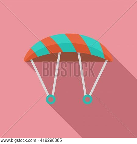 Parachute Icon. Flat Illustration Of Parachute Vector Icon For Web Design