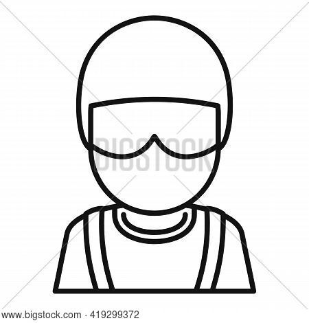 Skydiver Avatar Icon. Outline Skydiver Avatar Vector Icon For Web Design Isolated On White Backgroun