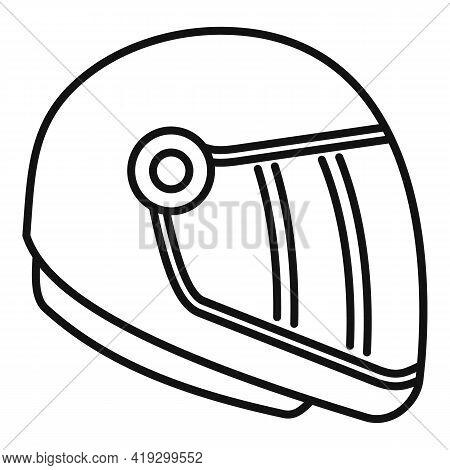 Skydiving Helmet Icon. Outline Skydiving Helmet Vector Icon For Web Design Isolated On White Backgro